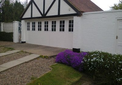 Garage exterior repaint Stockton on Tees