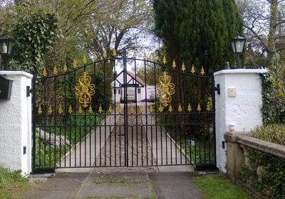 Gates repainted