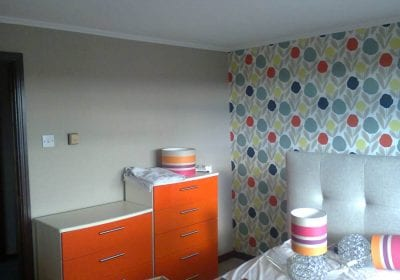 Feature wallpapered wall