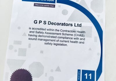CHAS _Certificate _GPS _Decorators _Billingham _Stockton _Teesside