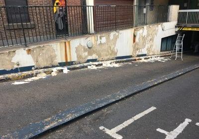 Commercial Car park repaint Middlesbrough before