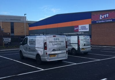 GPS Decorators limited vans on site