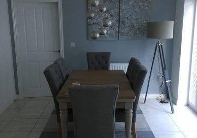 Repainted dining room