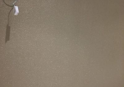 Glitter wallpaper hung professional decorators