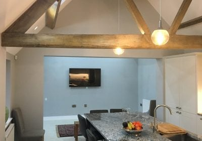 Painted barn conversion