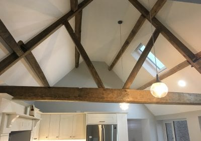 Painted ceiling barn conversion Teesside