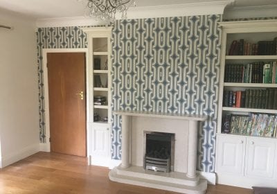 Wallpapered feature wall Middlesbrough
