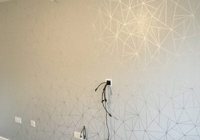Wallpapered feature wall Stockton